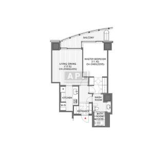 1LDK Mansion in Atago - Minato-ku Floorplan