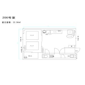 1LDK Apartment in Nakatsu - Osaka-shi Kita-ku Floorplan