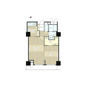 1LDK Mansion in Jinnan - Shibuya-ku Floorplan