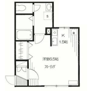 1K Apartment in Omorikita - Ota-ku Floorplan