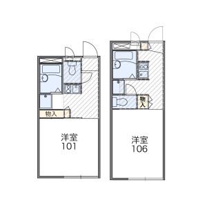 1K Apartment in Seki - Kawasaki-shi Tama-ku Floorplan