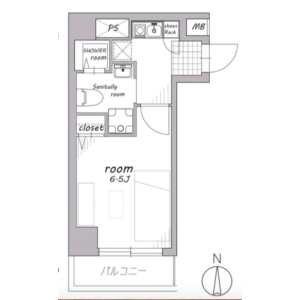 1K {building type} in Tomihisacho - Shinjuku-ku Floorplan