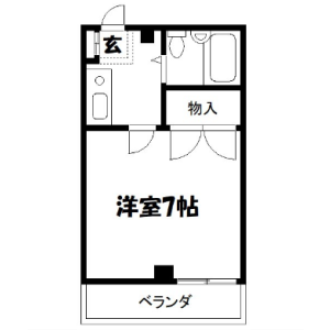 1K Mansion in Higashishinkoiwa - Katsushika-ku Floorplan