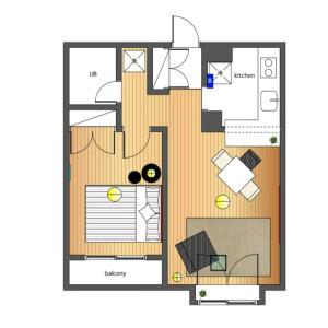 1LDK Mansion in Kamimeguro - Meguro-ku Floorplan