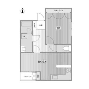 1LDK Mansion in Kitashinagawa(1-4-chome) - Shinagawa-ku Floorplan