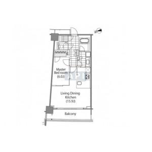 1LDK Apartment in Shinjuku - Shinjuku-ku Floorplan