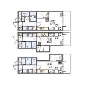 1K Apartment in Komaba - Meguro-ku Floorplan