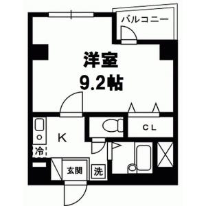 港区 赤坂 1K マンション 間取り