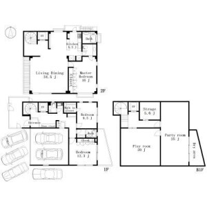 4SLDK House in Denenchofu - Ota-ku Floorplan