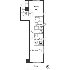 1LDK Apartment in Suido - Bunkyo-ku Floorplan