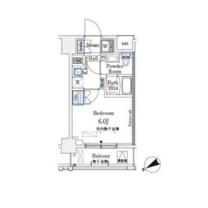 1K Mansion in Nishinakanobu - Shinagawa-ku Floorplan