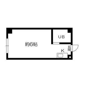 1R Mansion in Shimizu - Osaka-shi Asahi-ku Floorplan