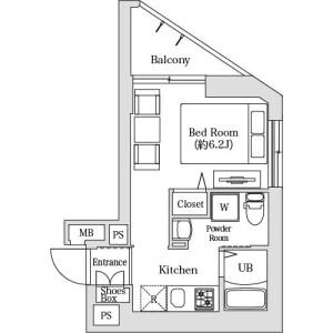 港區 - 服務式公寓 房間格局