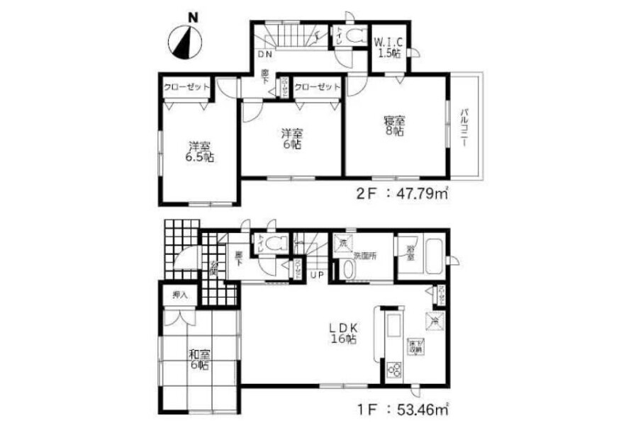 4LDK House to Buy in Mizuma-gun Oki-machi Floorplan
