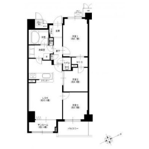 3LDK {building type} in Shinishikawa - Yokohama-shi Aoba-ku Floorplan