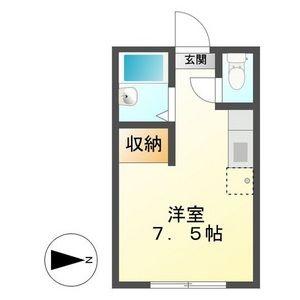瑞穂市本田-1R公寓 房間格局