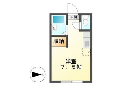 在瑞穂市內租賃1R 公寓 的房產 房間格局