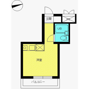 1R Mansion in Asahigaoka - Hino-shi Floorplan