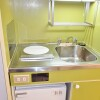 1K Apartment to Rent in Osaka-shi Chuo-ku Kitchen