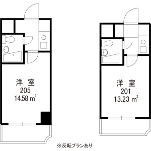 中野區松が丘-1R公寓大廈 房間格局