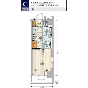 练马区中村北-1K公寓大厦 楼层布局