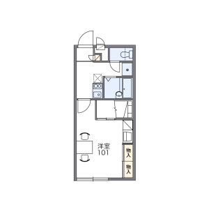 1K Apartment in Iinaka - Narita-shi Floorplan