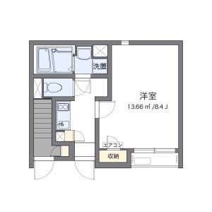 津島市老松町-1K公寓 房間格局