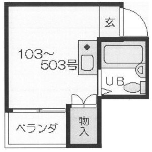 1R Apartment in Shimoshinjo - Osaka-shi Higashiyodogawa-ku Floorplan