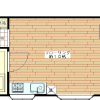 1R Apartment to Rent in Meguro-ku Floorplan