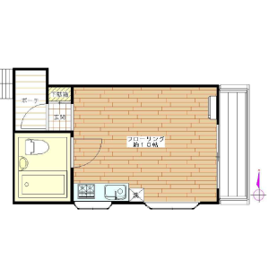1R Apartment in Mita - Meguro-ku Floorplan