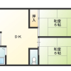 2DK Apartment to Rent in Osaka-shi Higashisumiyoshi-ku Floorplan