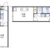 在埼玉市岩槻区内租赁1K 公寓 的 楼层布局
