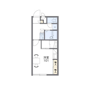 1K Apartment in Shigedome - Fukuoka-shi Sawara-ku Floorplan