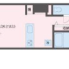 1R Apartment to Rent in Koto-ku Floorplan