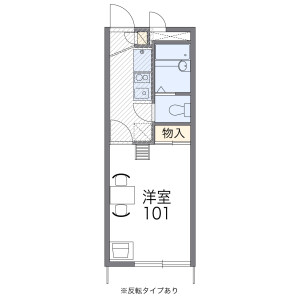 1K Mansion in Tatsuminaka - Osaka-shi Ikuno-ku Floorplan