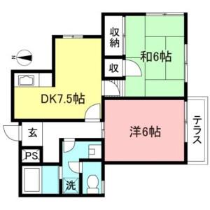 2DK Mansion in Hanegi - Setagaya-ku Floorplan