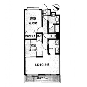 2LDK Mansion in Kitashinagawa(1-4-chome) - Shinagawa-ku Floorplan
