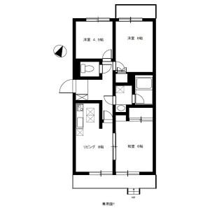 3DK Mansion in Mameguchidai - Yokohama-shi Naka-ku Floorplan