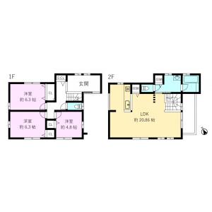 3LDK {building type} in Isogo - Yokohama-shi Isogo-ku Floorplan