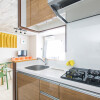 1K Serviced Apartment to Rent in Osaka-shi Naniwa-ku Kitchen