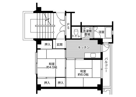2K Apartment to Rent in Chichibu-shi Floorplan