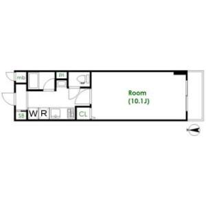 1K Mansion in Chitose - Sumida-ku Floorplan