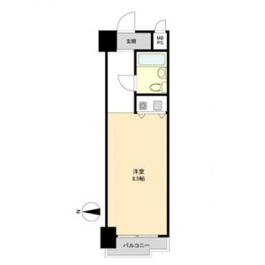 1R {building type} in Minamisemba - Osaka-shi Chuo-ku Floorplan