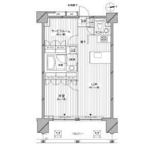 1SLDK Apartment in Azabujuban - Minato-ku Floorplan