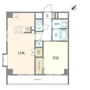 1LDK {building type} in Hommachi - Shibuya-ku Floorplan