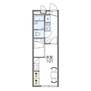 1K Apartment in Shimojicho (kanda) - Toyohashi-shi Floorplan