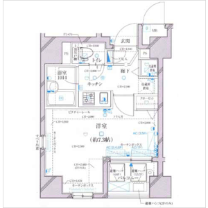 1K Mansion in Sambancho - Chiyoda-ku Floorplan