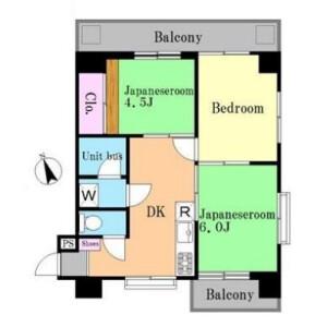 3DK Mansion in Nishigotanda - Shinagawa-ku Floorplan