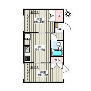 2DK Mansion in Nishikata - Bunkyo-ku Floorplan