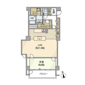 1LDK Mansion in Shibuya - Shibuya-ku Floorplan